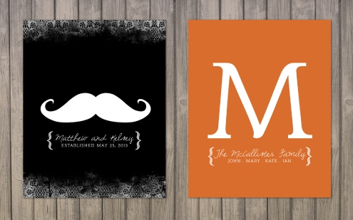 Custom Prints_Mustache and M