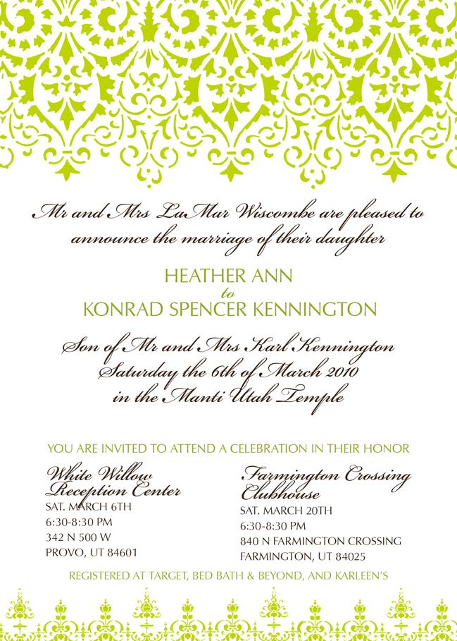 Heth and Kon Wedding Announcement
